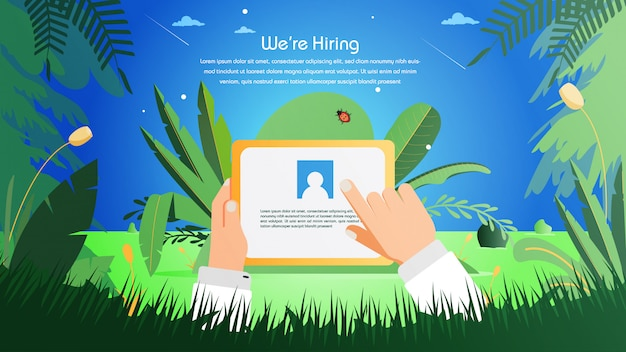 Job inhuren van online recruitment