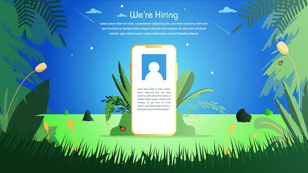 Job inhuren van online recruitment