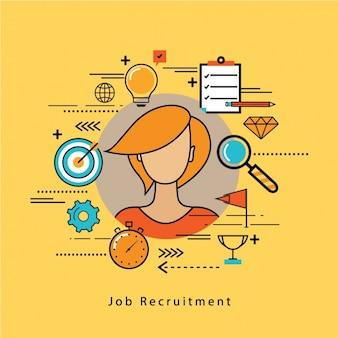 Job recruitment achtergrond ontwerp
