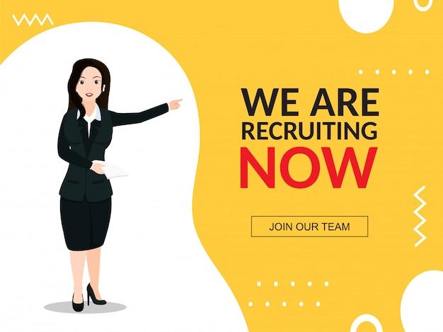 Job recruitment concept.