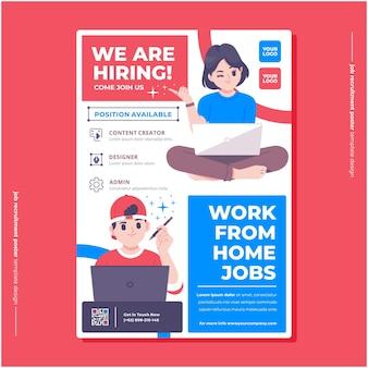 Jobs huren poster ontwerpsjabloon