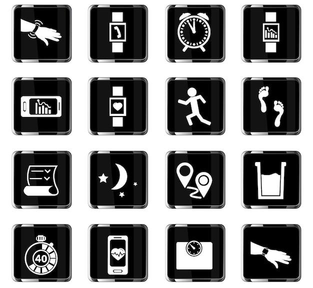 Joggen vector iconen voor gebruikersinterface ontwerp