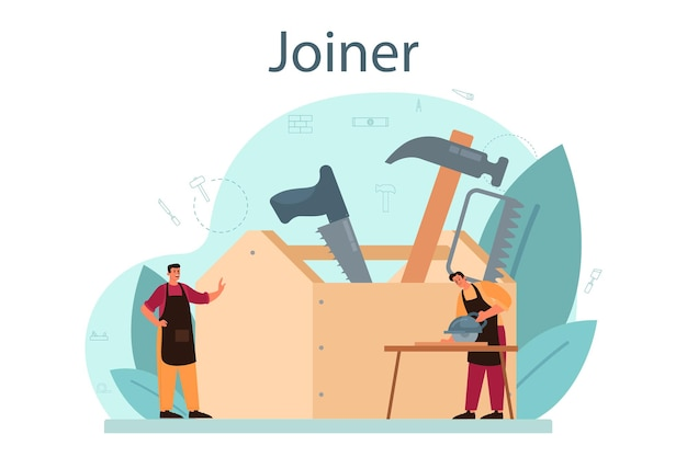 Jointer of timmerman concept illustratie