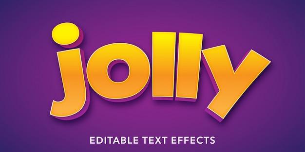 Jolly text 3d-stijl bewerkbaar teksteffect