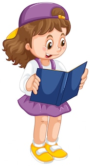 Jong meisje leesboek