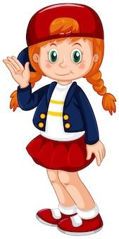 Jong rood hairdmeisje