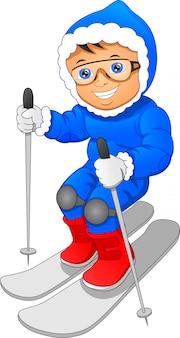 Jong skiën