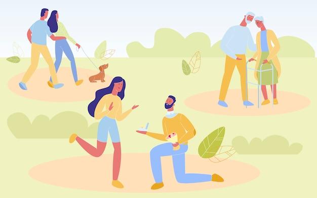 Jonge en oudere mensen houden ervan om samen tijd door te brengen,