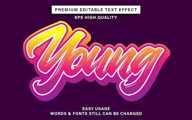 Jonge graffiti-teksteffectstijl