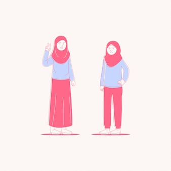 Jonge hijab-vrouwen