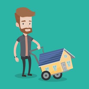 Jonge man huis kopen