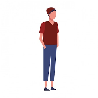 Jonge man met casual kleding