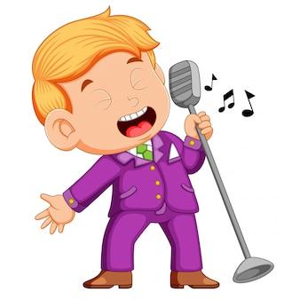 Jonge man zingen