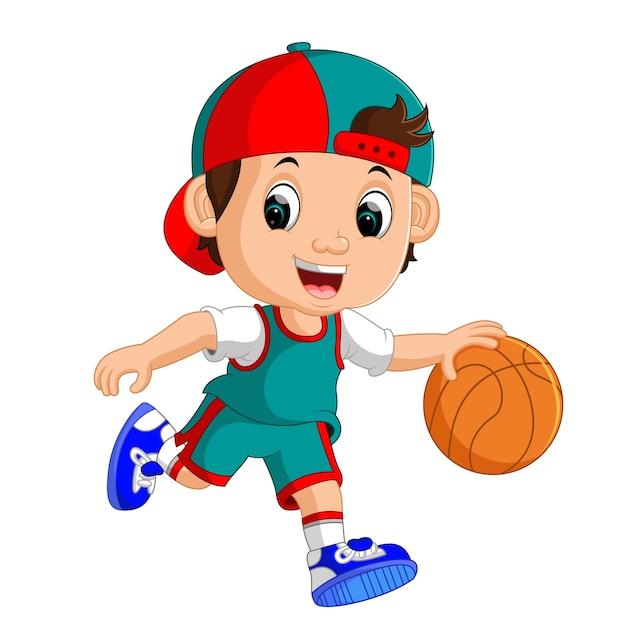 Jonge mannelijke basketbalspeler