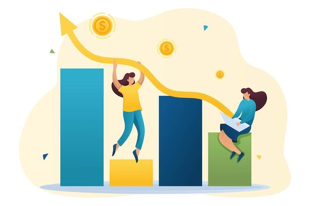 Jonge meisjes creëren een winstgevend bedrijf en verhogen de inkomsten