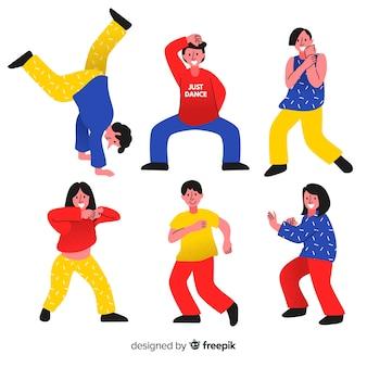 Jonge mensen dansen