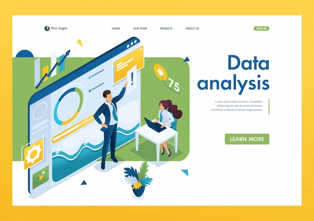 Jonge ondernemers werken aan data-analyse.