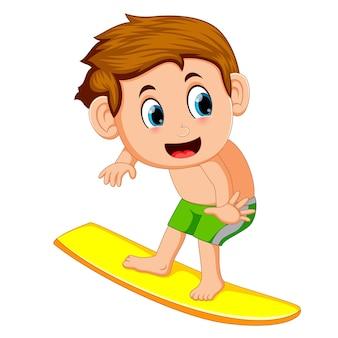 Jonge surfer cartoon