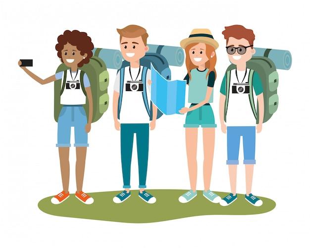 Jonge vriendentoeristen