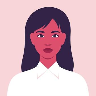 Jonge vrouw die lacht gelukkige vrouw avatar