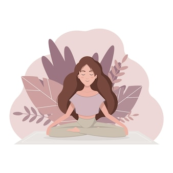 Jonge vrouw die yogaoefeningen doet