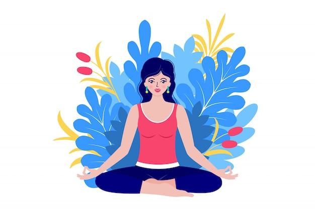Jonge vrouw mediteert