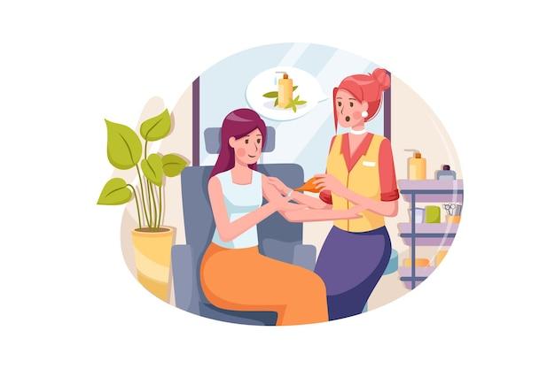 Jonge vrouw met olie massage kuur