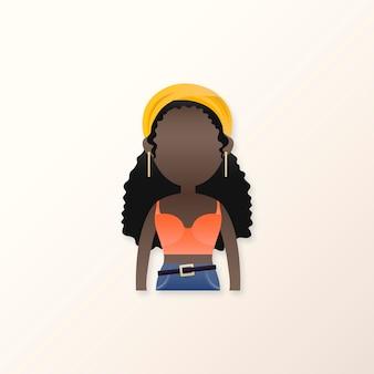 Jonge zwarte meid avatar