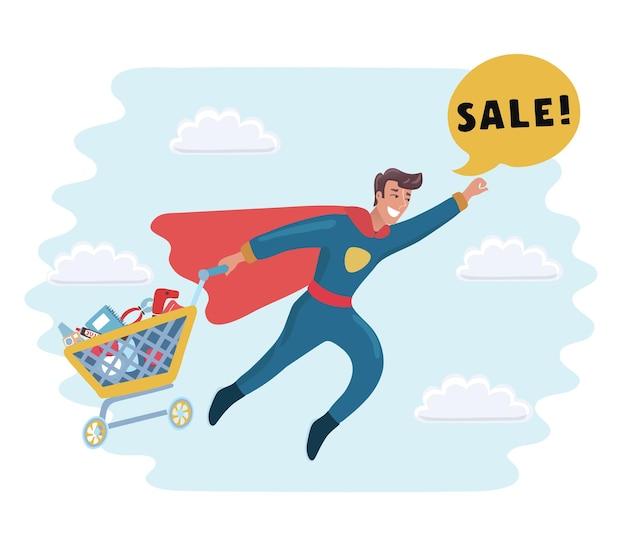 Jonge zwarte zakenman in formeel pak en rode cape-superheld die in een zelfverzekerde pose staat met zijn ...