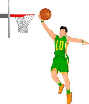 Jongen basketbalspeler