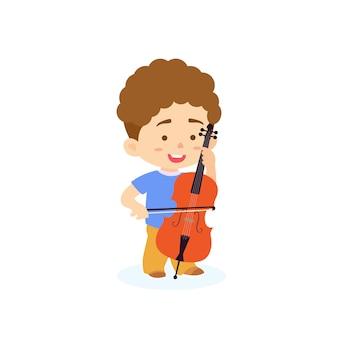 Jongen cello spelen