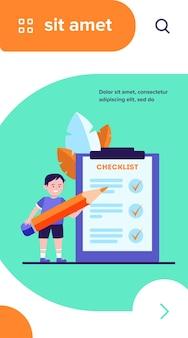 Jongen checklist invullen