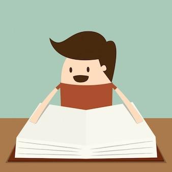 Jongen die een boek