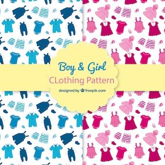 Jongen en meisje kleding patronen