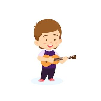 Jongen gitaar spelen