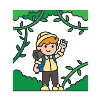Jongen in het bos