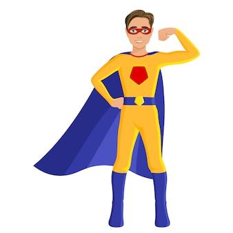 Jongen in superheld kostuum