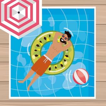 Jongen met de zomer swimwear