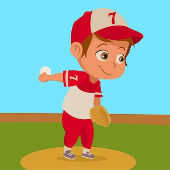 Jongen met honkbal