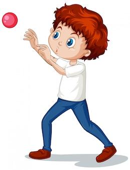 Jongen speelt bal