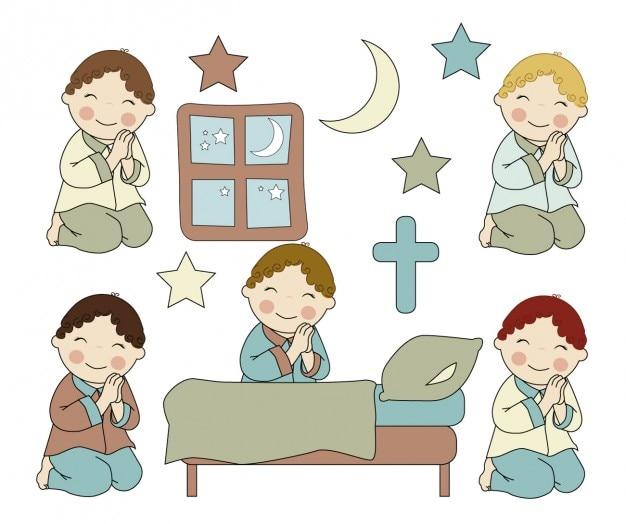Jongens bidden