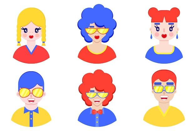 Jongens en meisjes avatars