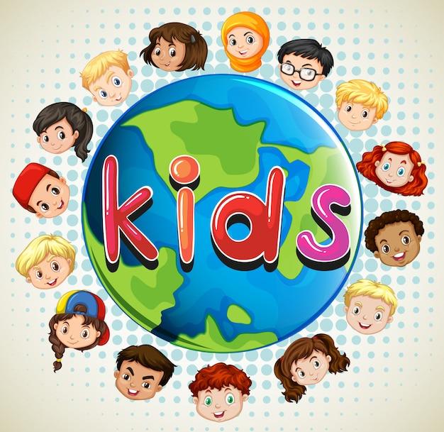 Jongens en meisjes over de hele wereld