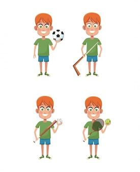 Jongens en sport