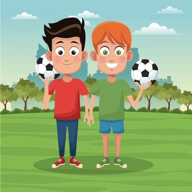 Jongens en voetbal