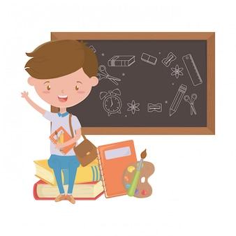 Jongensjong geitje van schoolontwerp