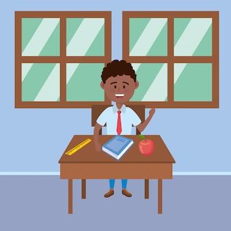 Jongenskind van school