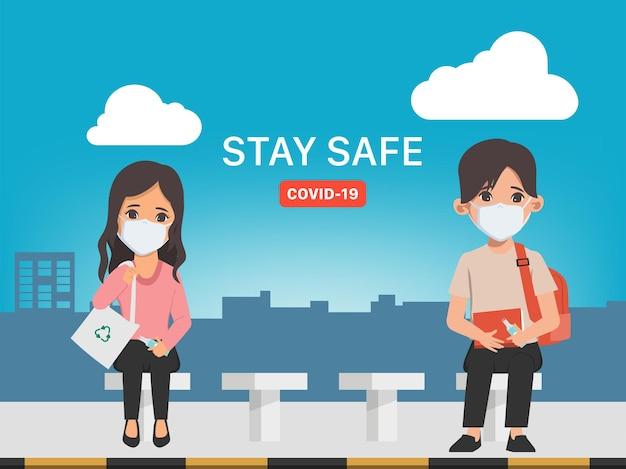 Jongeren bewaren social distancing stop covid19 coronavirus