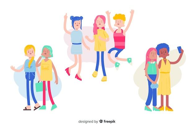 Jongeren die samen tijd doorbrengen