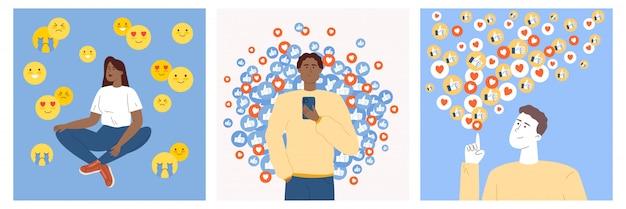 Jongeren die sociale media gebruiken om persoonlijke of commerciële pagina's en merken te promoten.